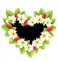 strawberry love vector image