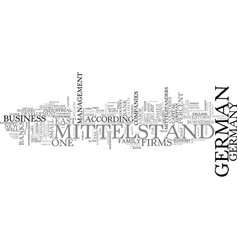 The demise of the mittelstand text background vector