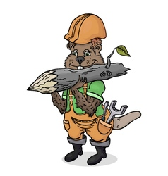 The industrious beaver builder by profession vector image