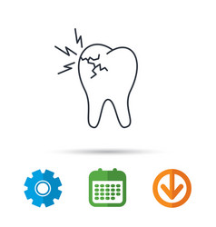 Toothache icon dental healthcare sign vector