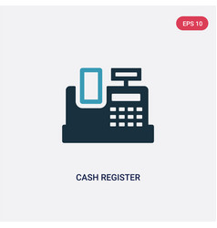 two color cash register icon from payment methods vector image