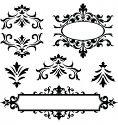 vector decorative frame ornaments vector image
