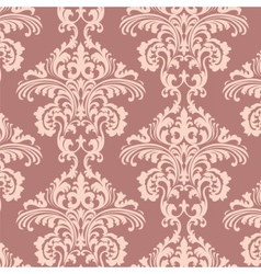 Vintage Rococo Floral ornament damask pattern vector