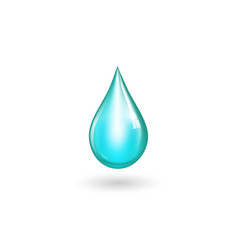 Water drop isolted vector