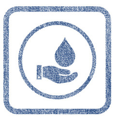 water service fabric textured icon vector image