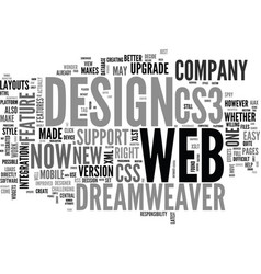 Web design series dreamweaver and cs what s the vector