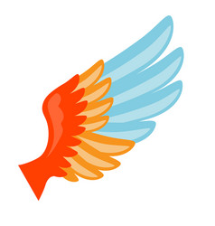 wing icon in abstract style vector image
