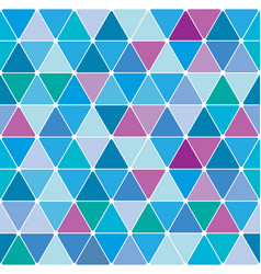 winter triangle pattern 26 vector image