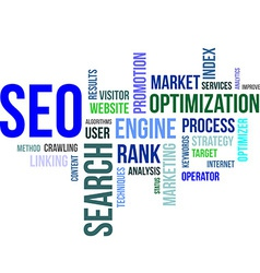 Word cloud seo vector