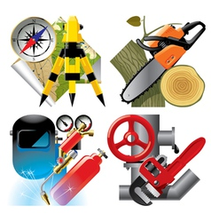 Work profession icons vector