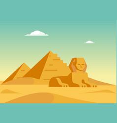 Pyramids and sphynx vector