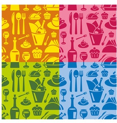 restaurant seamless pattern vector image