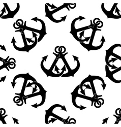 Crossed ship anchors seamless pattern vector