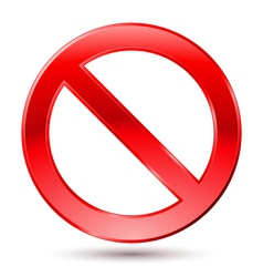 Empty ban sign vector