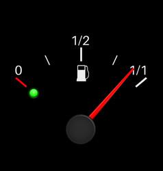 fuel gauge black full tank vector image vector image