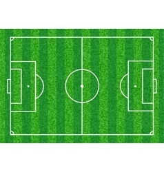 Green Soccer field vector image vector image