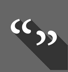 quote sign icon quotation mark symbol double vector image