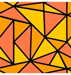 Seamless pattern with orange triangle vector image