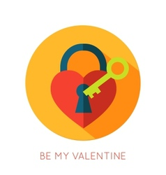 Valentines day flat isolated icon Be my valentine vector image vector image