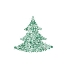 christmas background with new year tree and snow vector image