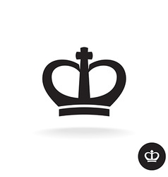Crown rounded black simple icon vector image vector image