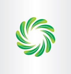 eco green leaf circle abstract background element vector image