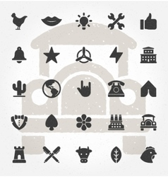 Retro Hand Drawn Logos Design Elements Set vector image