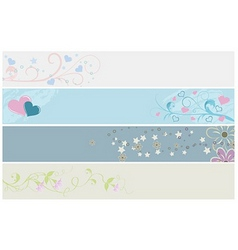 spring web banners vector image