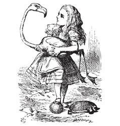 Alice flamingo vector image vector image