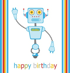 Birthday robot vector image vector image