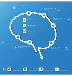 Brain Shape Business And Medical Infographic vector image vector image