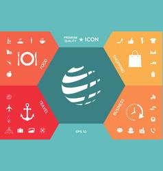 earth logo design symbol vector image