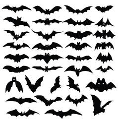 halloween bats silhouettes vector image vector image