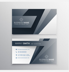 Modern gray business card template design vector