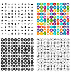 100 startup icons set variant vector image