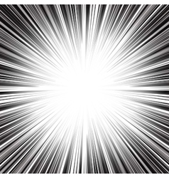 Abstract radial monochrome stripes burst vector image