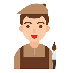Artist icon profession and job vector