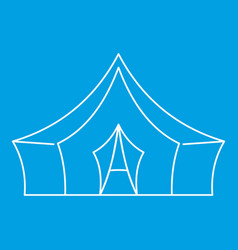 Awning tent icon outline style vector