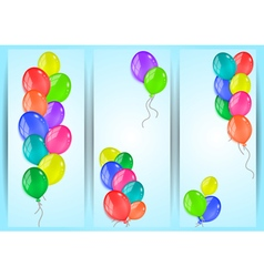 Banners with colorful balloons vector image