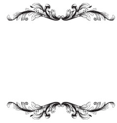 baroque vintage elements vector image