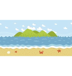 beach coast landscape seamless pattern vector image