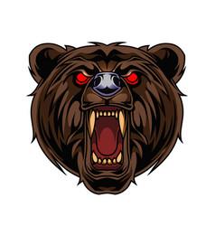 bear esport mascot logo design vector image