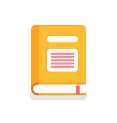 book in cover with lines bookmark isolated icon vector image