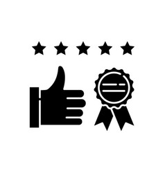 Brand image black glyph icon vector