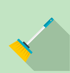 broom brush icon flat style vector image