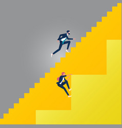 Business gender inequality concept-obstacles for vector