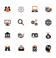 Business management and human resources icon set vector
