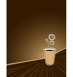 Coffee rush background vector