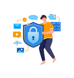 concept data security technology vector image