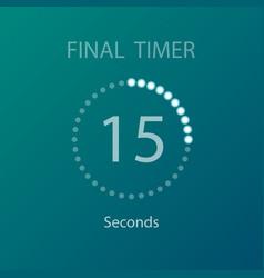 Countdown circles timer vector